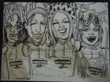 Family Gift Caricature Ski Theme