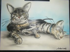 Cat Caricature