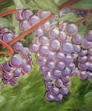 "SOLD ""Grapes"" Jason J. Anhorn Oil on Canvas."