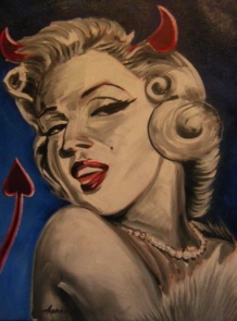 "SOLD ""Naughty Marylin"" Jason J. Anhorn Oil on Canvas."