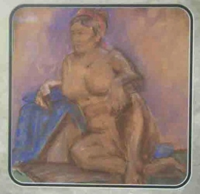 "PRIVATE COLLECTION ""Live Model"" Jason J. Anhorn Pastel on Paper"