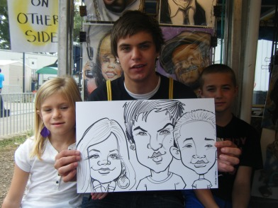 Triple Caricature