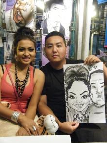 2 person couple caricature