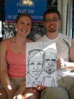 Happy Couple Caricature