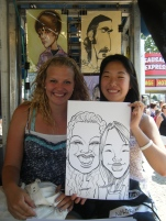 2 girls 1 Caricature