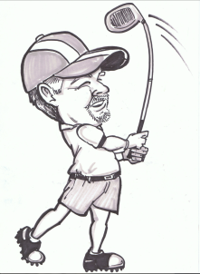 Golf Gift Caricature
