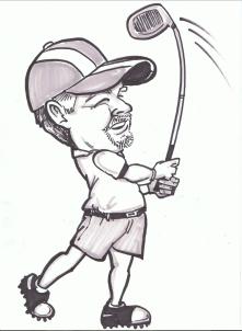 Golf Gift Caricature