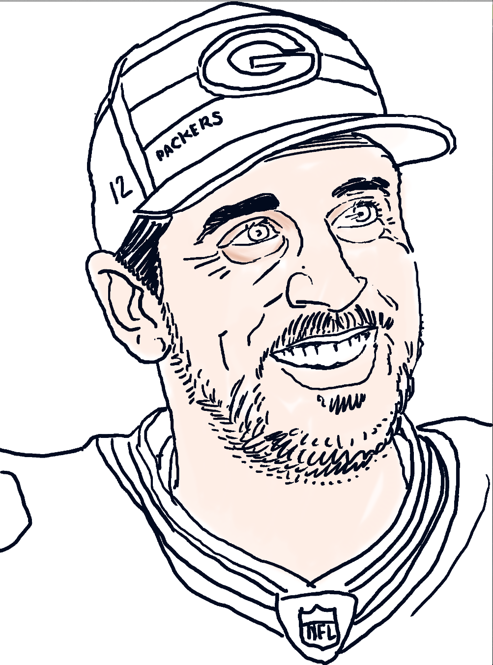 Aaron Rodgers ART BY JASON ANHORN