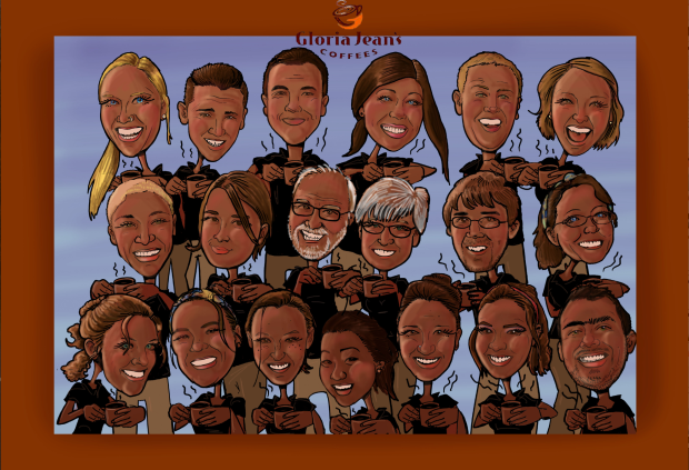 Gloria Jeans Employee Caricature