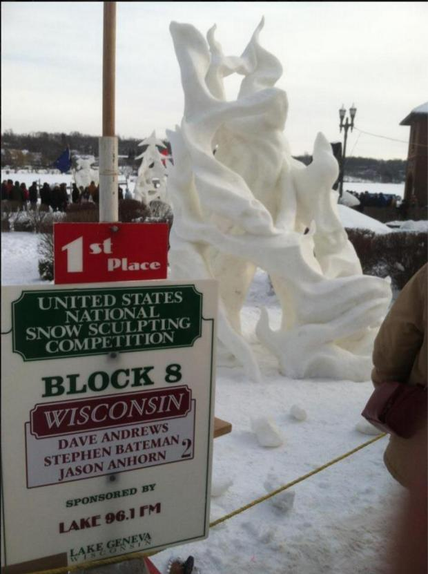 1st Place 2013 Snow Sculpting Champions 2013!!!